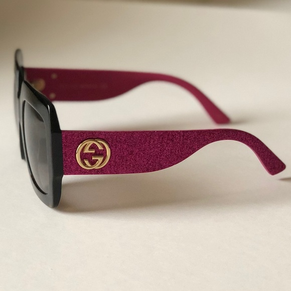 625be3b782 Gucci 0102S in Pink Glitter   Brown Gradient Lens